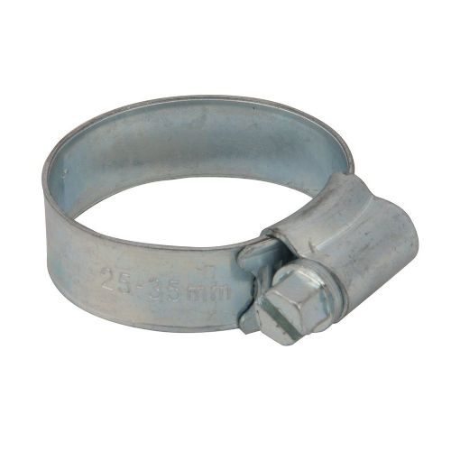 10 Pack Fixman 530408 Zinc Plated Steel Hose Clips 25mm - 35mm (1)